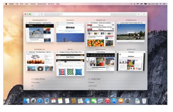 Safari in OSX Yosemite