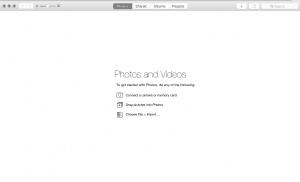 Welcome Screen Photos OS X
