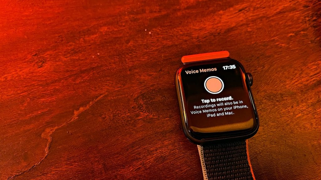 Voice Memos on Apple Watch Series 6