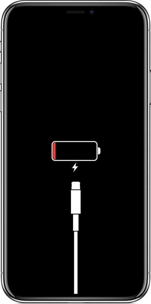 iPhone low battery screenshot
