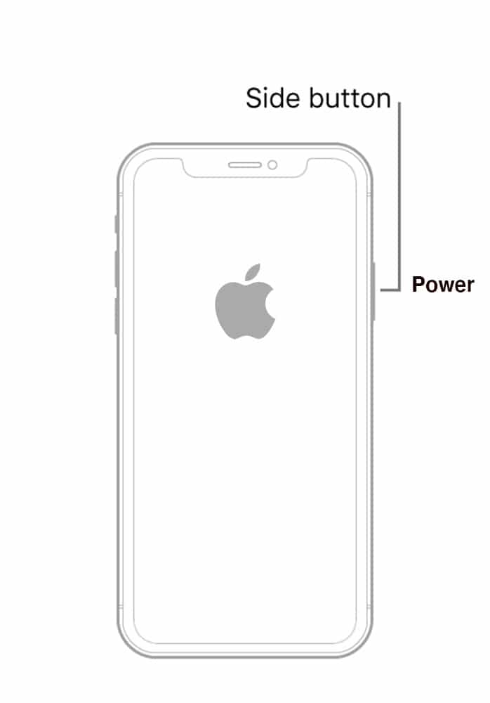 Power on your iPhone.