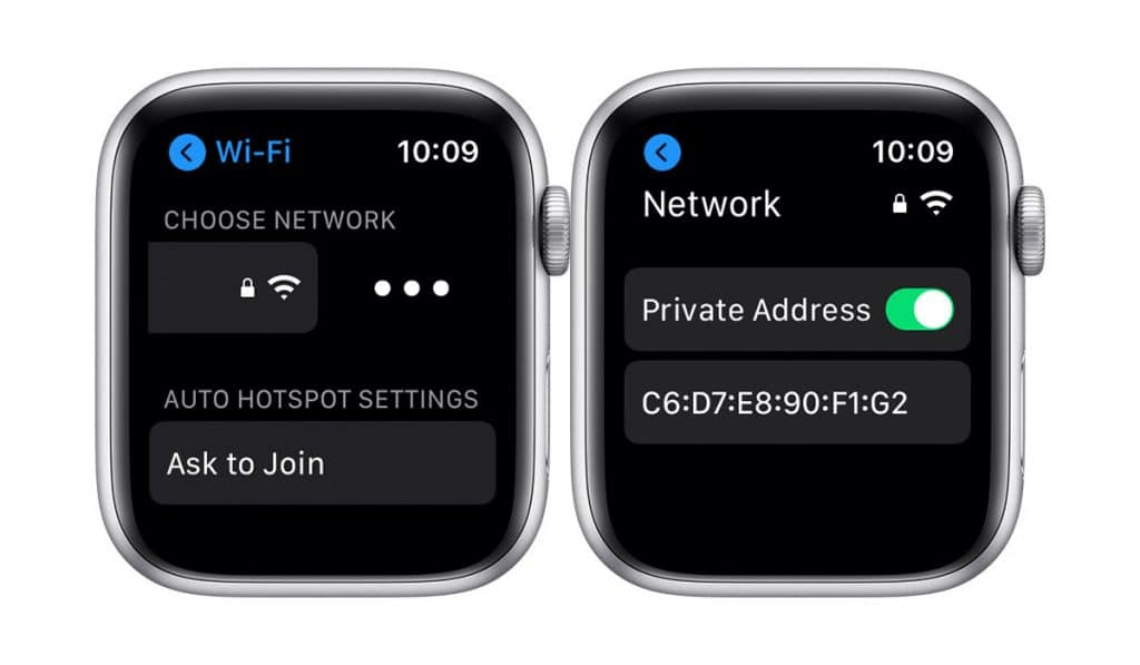 Watch OS Turn On Private Address