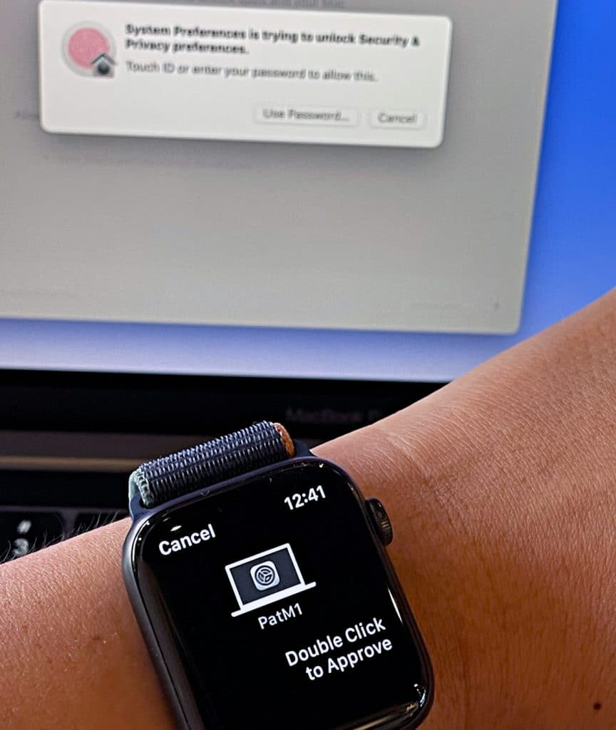 Unlock your Mac with your Apple Watch.