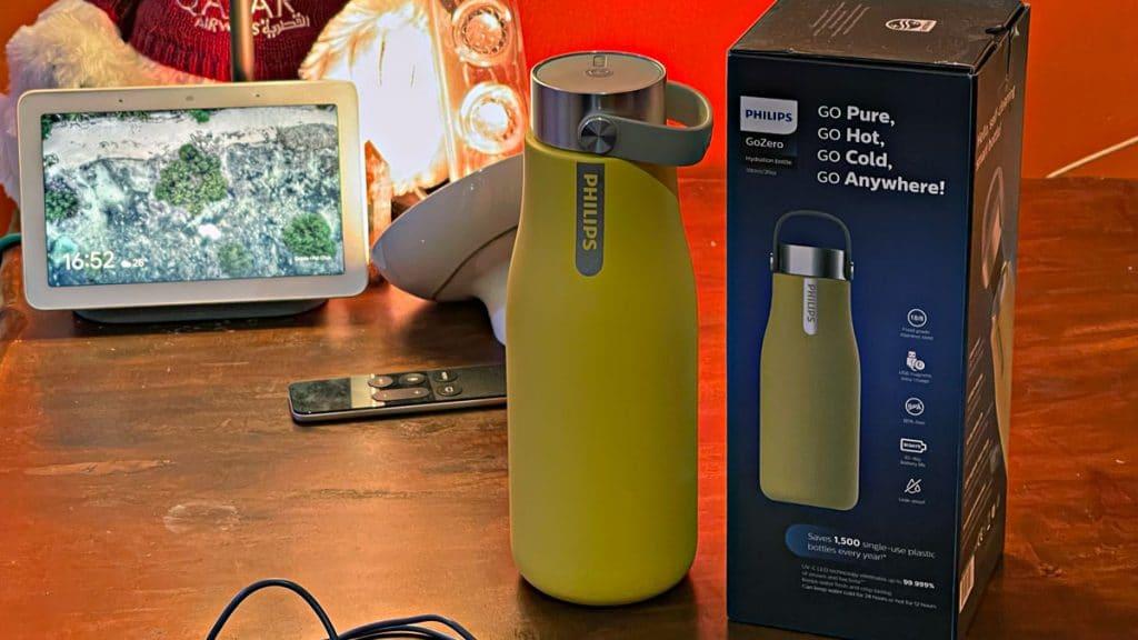 Philips GoZero water bottle.