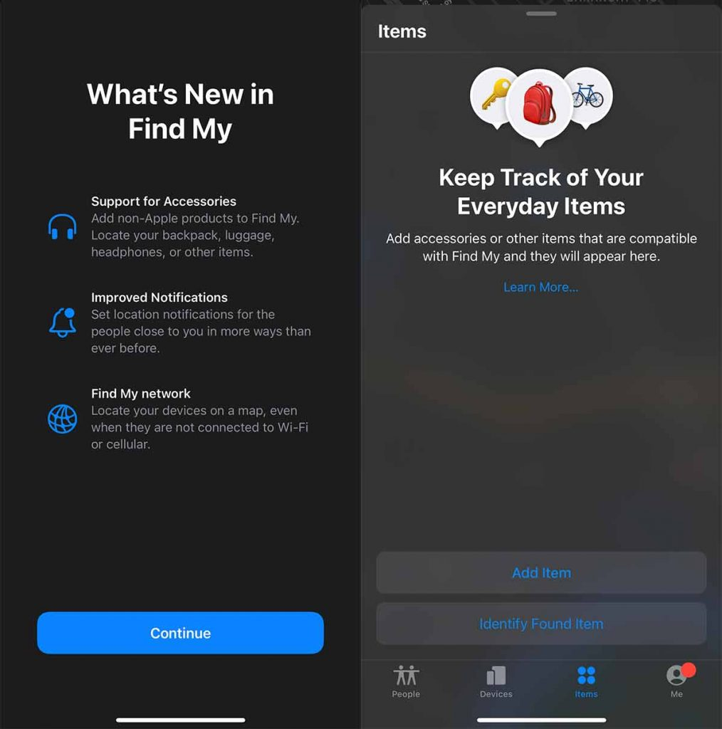 What's new in Find My