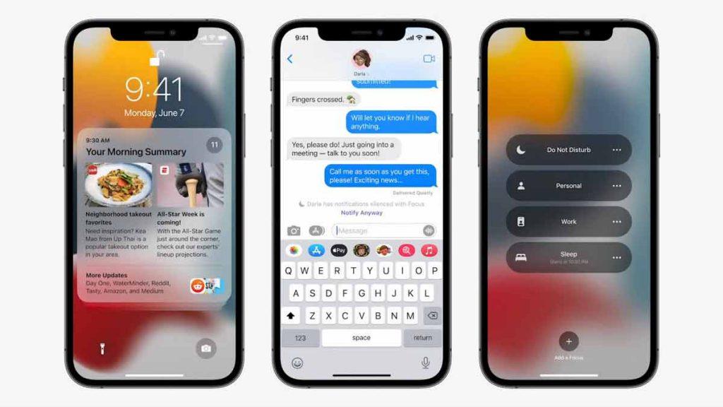 Focus features in iOS 15.
