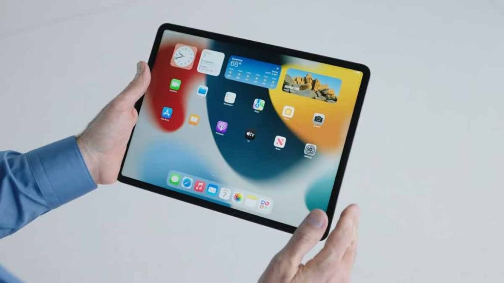 Widgets in iPadOS 15.